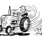 Строительные курьезы: как трактора вышли из-под контроля человека. Видео