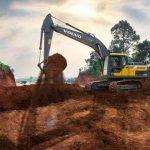 В Украине появился новый гусеничный экскаватор Volvo