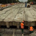 Основной упор при ремонте Борщаговского путепровода — на трамвайное полотно