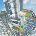 """При помощи лифтов Вилли Вонки создадут """"висячие города"""" будущего"""
