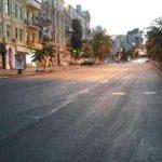На улице Петлюры в Киеве постелили верхний слой асфальта