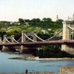 Как в Киеве построили Николаевский цепной мост. Фото