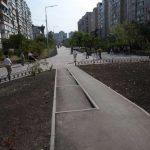 Единственный пешеходный бульвар на Троещине отремонтировали