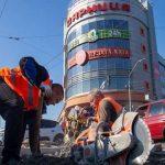 Асфальтирование Дарницкой площади почти завершили