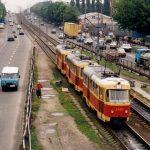 Трамвайную линию на Троещине реконструируют