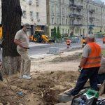 В Киеве ремонтируют историческую улицу в центре
