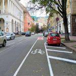 На Городецкого велосипедисты будут ездить по брусчатке