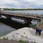 Разрушившийся под весом грузовика мост начали реконструировать