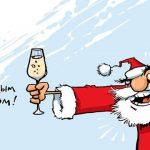 Новогодние приколы: пьяный Дед Мороз. Видео