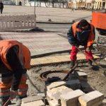 Вокруг Софийской площади выложат красно-белую брусчатку