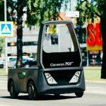 В Эстонии роботы-курьеры получили право на езду по дорогам общего пользования.  Видео