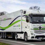 На дороги Европы вышел новый экономический автопоезд на базе Mercedes-Benz Actros