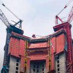В Китае изобрели машину для быстрого строительства небоскребов. Видео